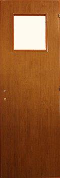 MDF kis üveges bejárati ajtó